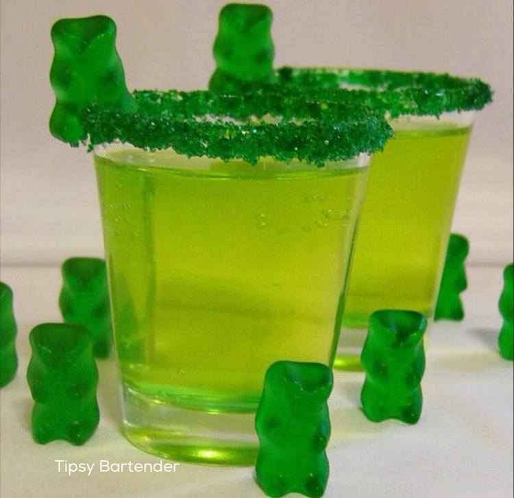 GREEN+GUMMY+BEAR+SHOTS