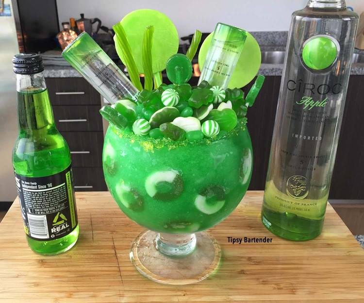 Apple Ciroc Candy Bowl Cocktail