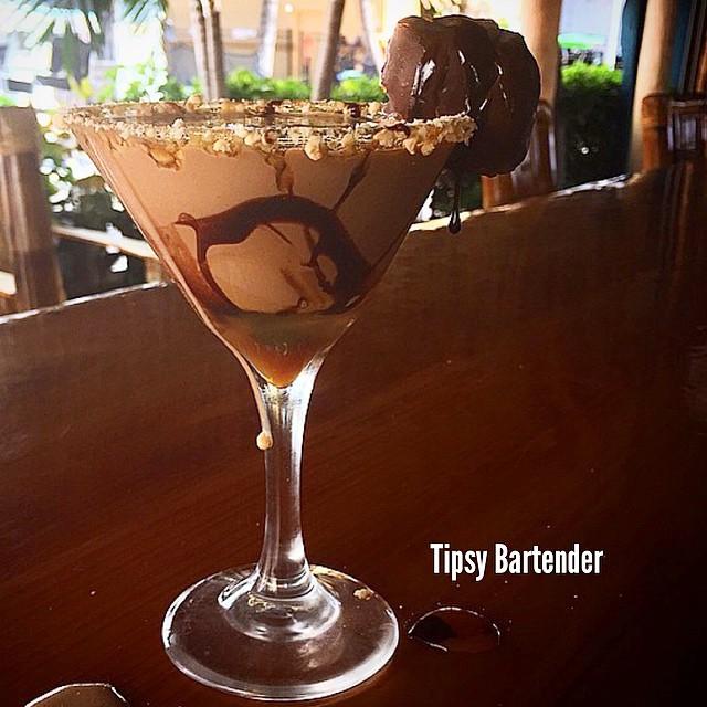 Chocolate Turlte Martini Cocktail