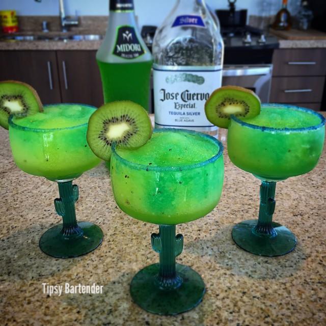 Electric Kiwi Margarita Cocktail