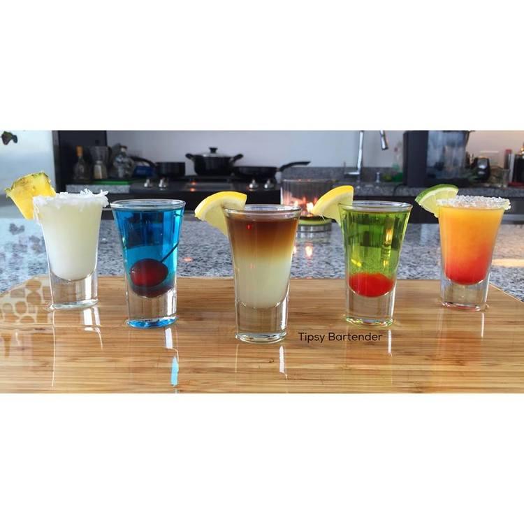 Five Cocktail Shots