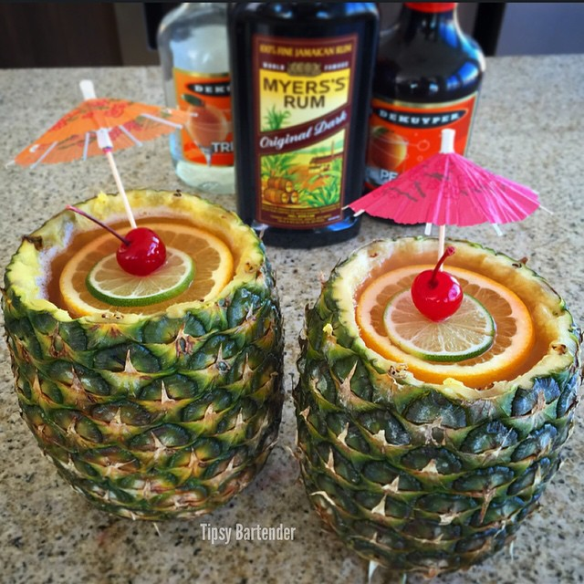Pineapple Mai Tai Cocktail