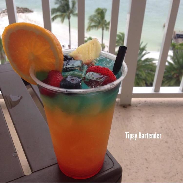 Rainbow Breeze Cocktail