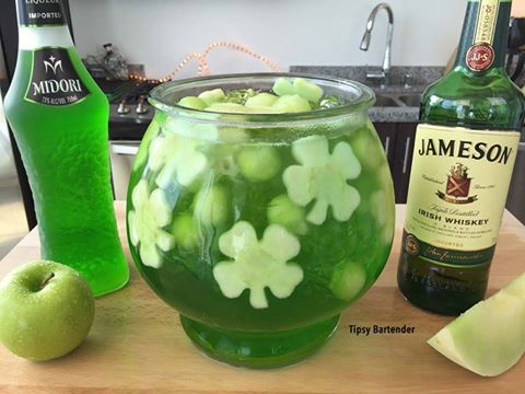 Irish Fishbowl Cocktail