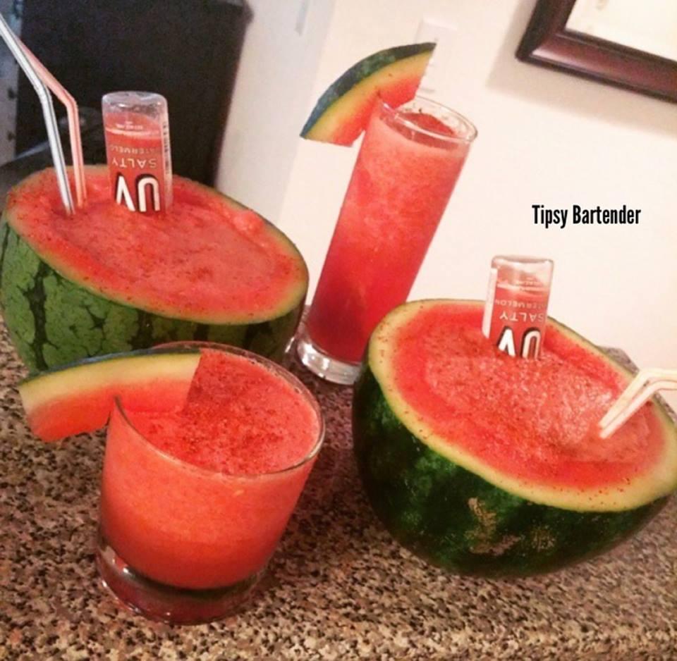 Salty Watermelon Cocktail