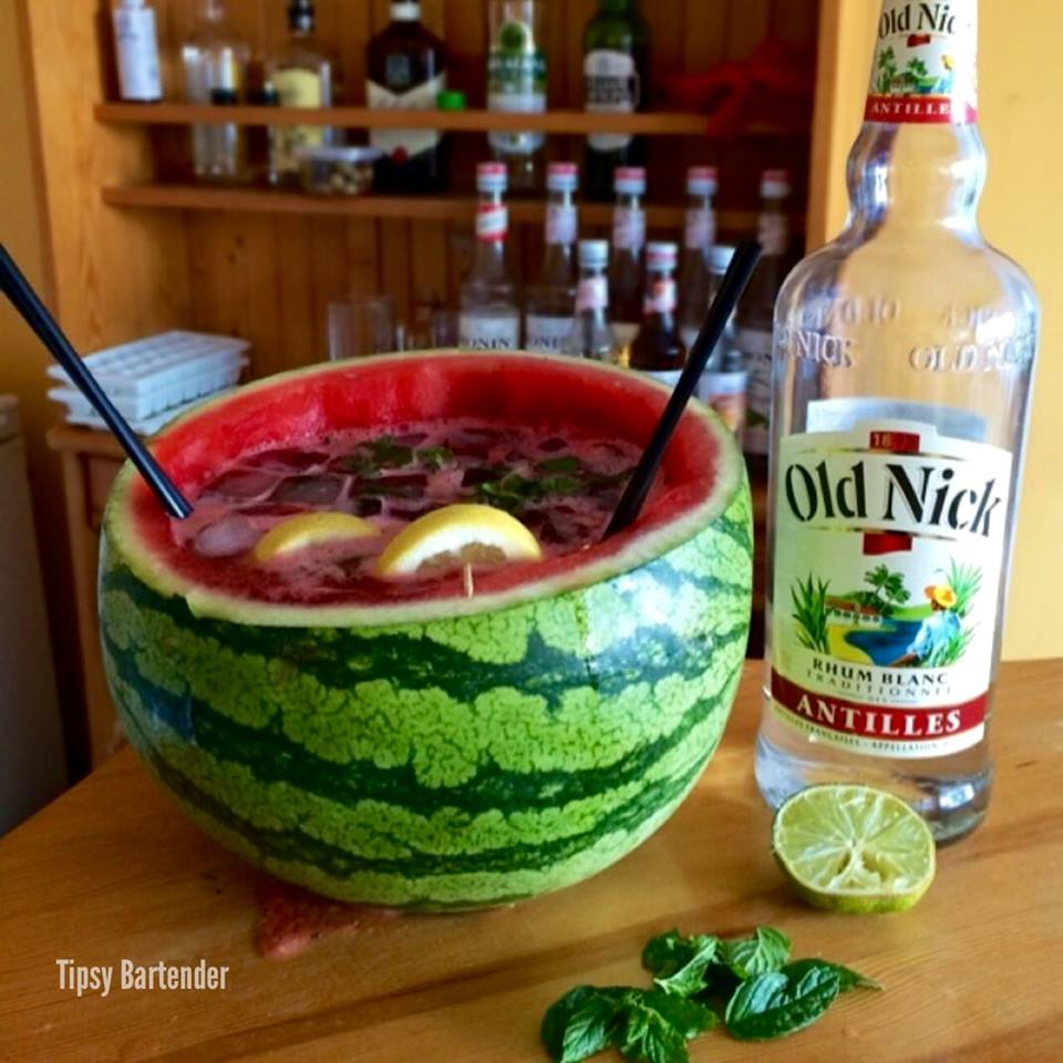 Giant Watermelon Mojito