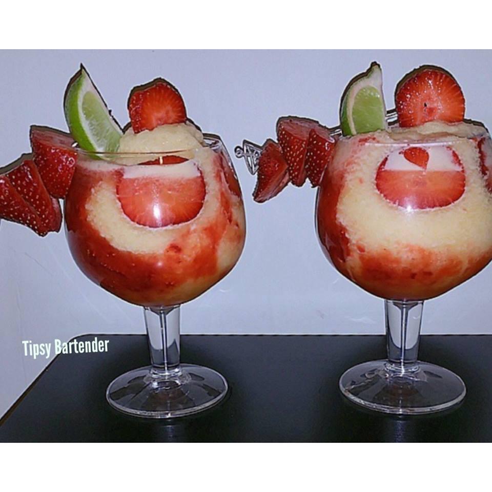 Strawberry Passion Daiquiri Cocktail