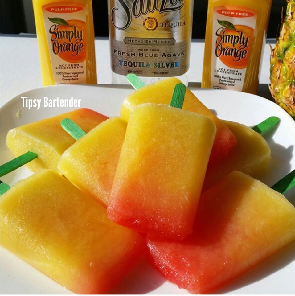 Tequila Sunrise Popsicles