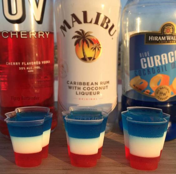 4th of July All American Jello Shots