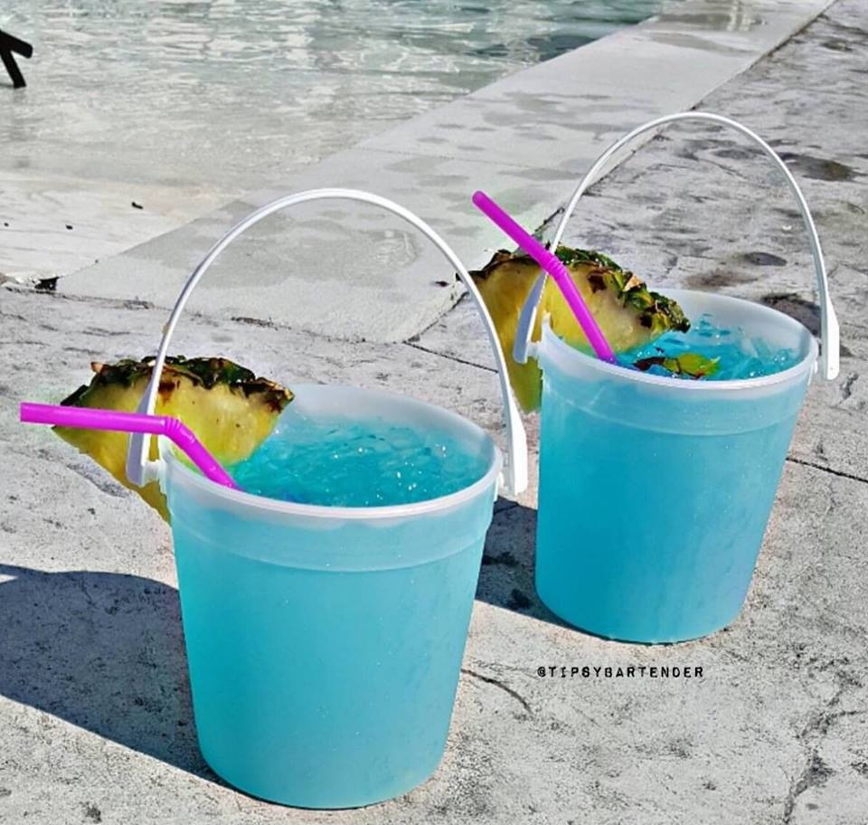 Electric Poolside Punch Cocktail