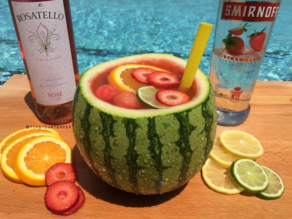 Mini Vodka Watermelon Bowl