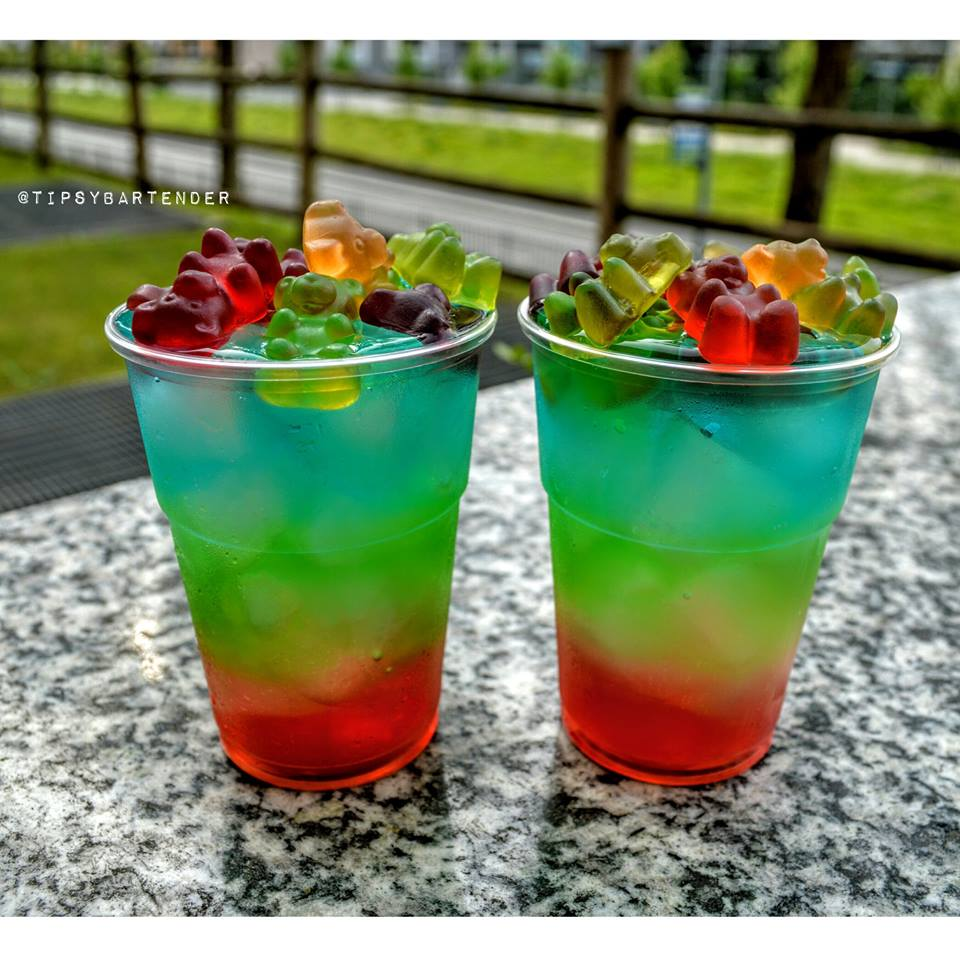 Rainbow Gummy Bear Blast Cocktail