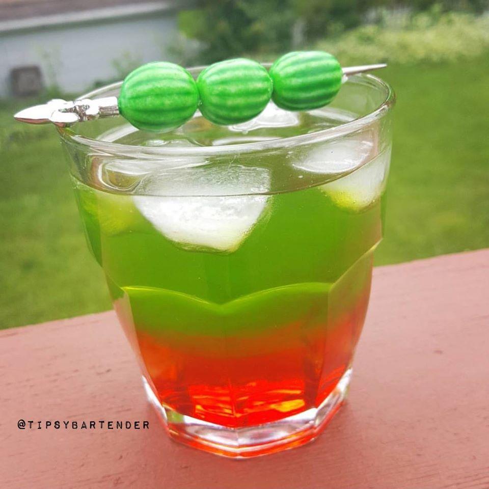 Upside Down Watermelon Cocktail