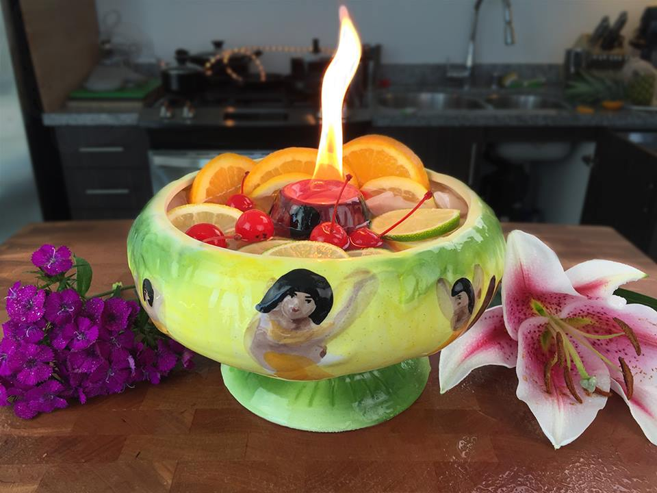 Volcano Bowl Cocktail