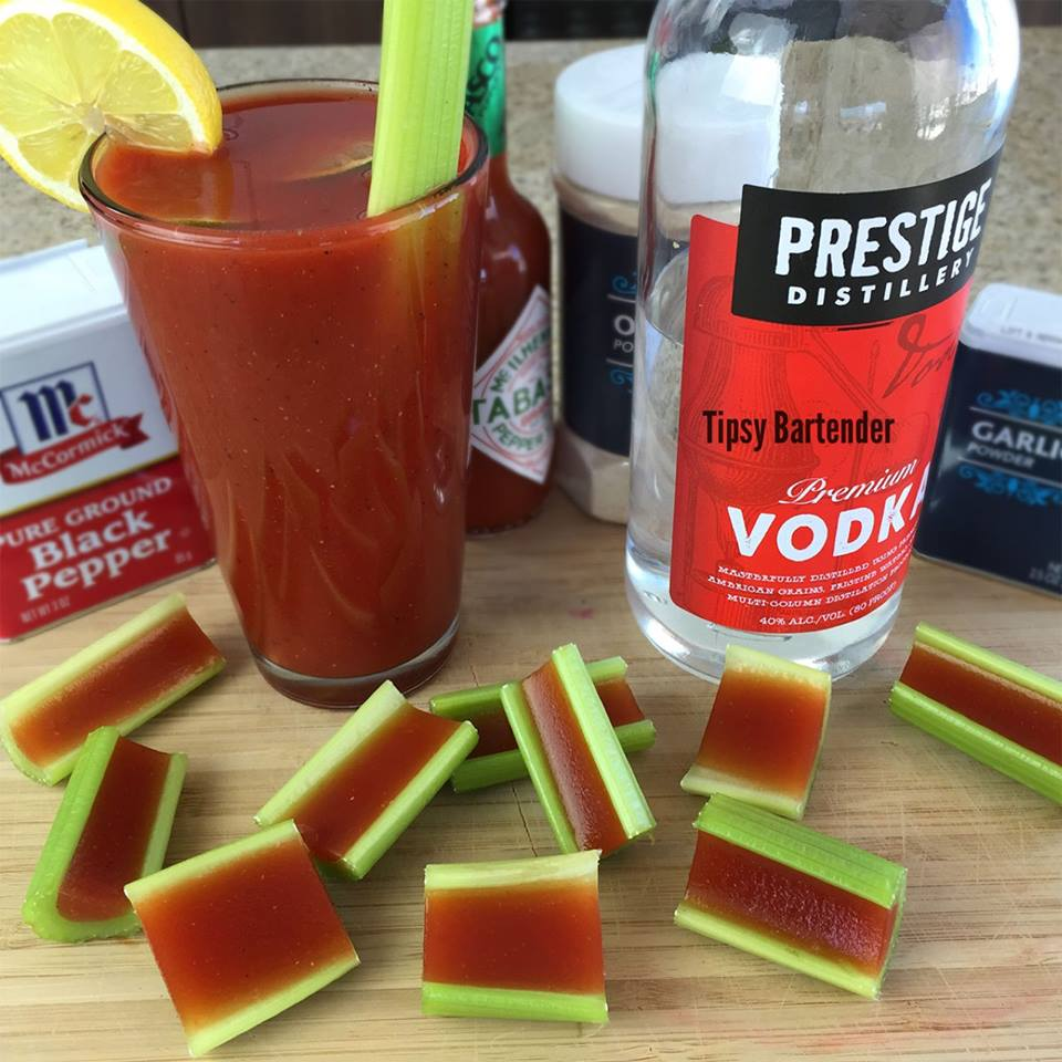 Bloody Mary Jello Shots