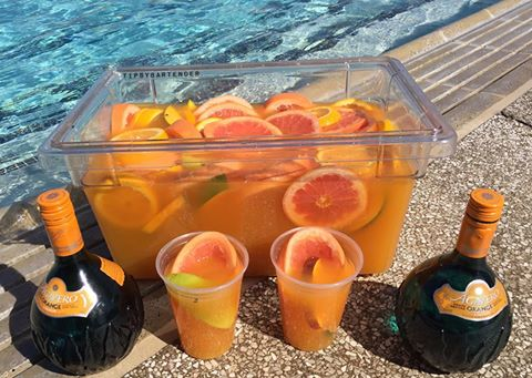 Tropical jungle juice top shelf pours for Fish bowl drink tipsy bartender