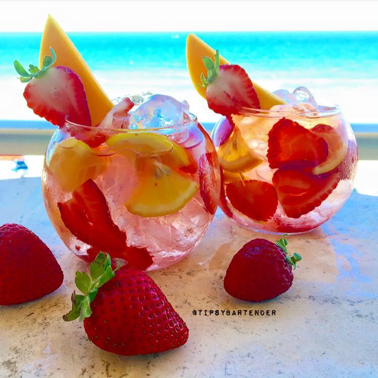 Mango Strawberry Sangria