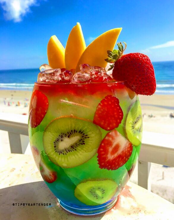 Twisted mermaid rum bowl top shelf pours for Easy fruity mixed drinks