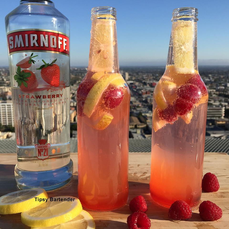 Raspberry Lemonade Spritzer Cocktail