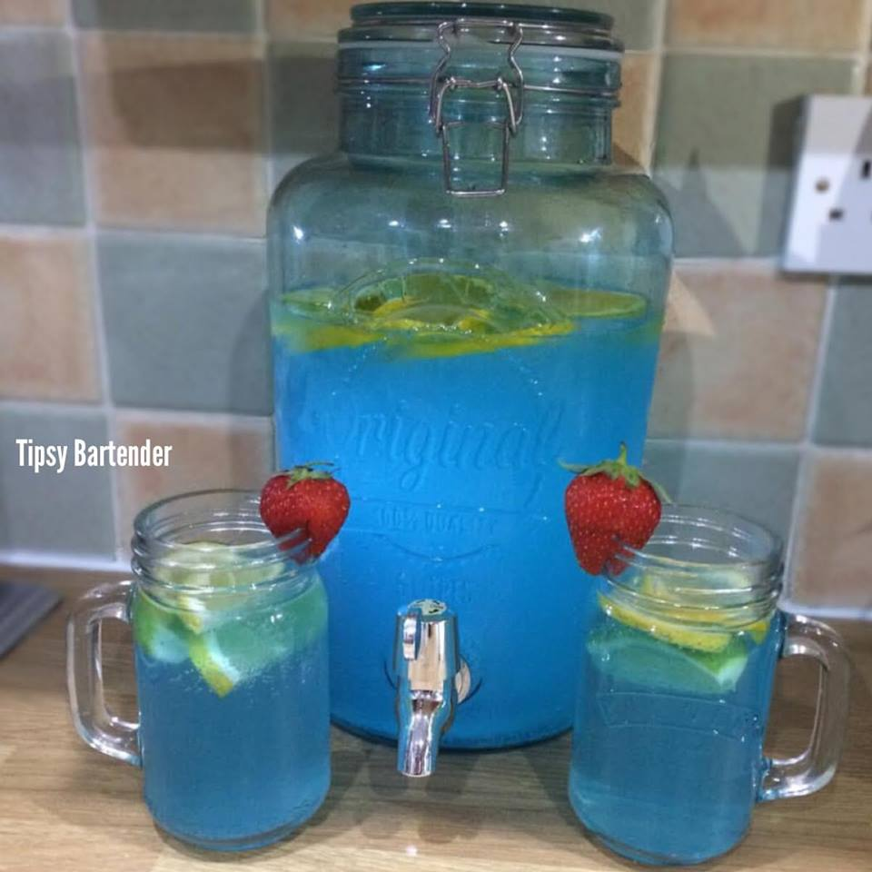 Summer Blues Punch Cocktail