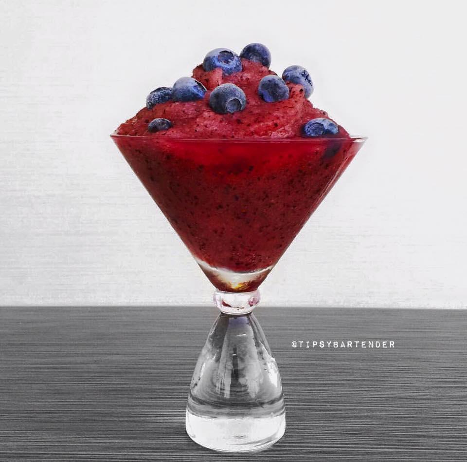 Blueberry Lemon Slushie Cocktail