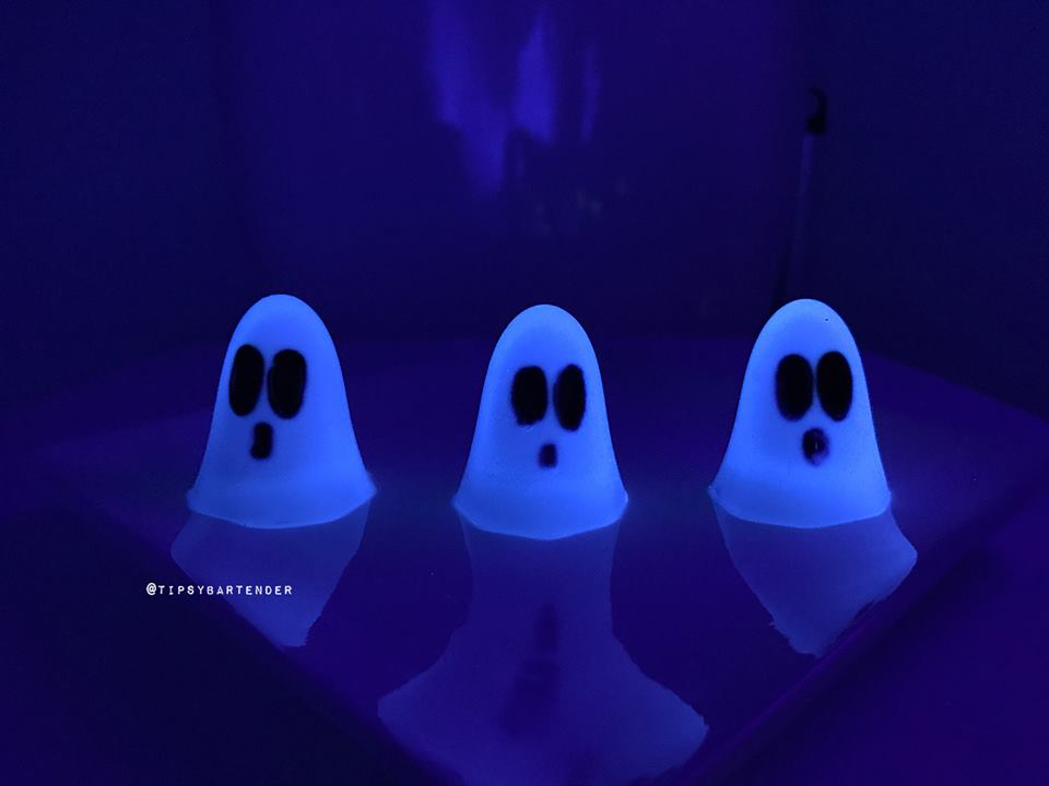 Glow in the Dark Ghost Jello Shots