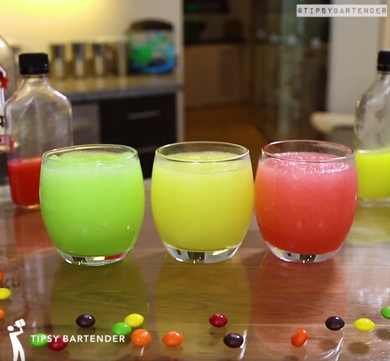 Skittles Slushie Cocktail